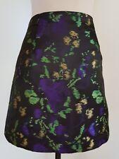 ZARA BASIC Black Print Satin Skirt Size EUR M