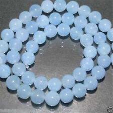 "8mm Brazilian Aquamarine Gemstone Round Loose Bead 15""KKK"