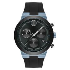 Movado Bold Fusion Chrono Quartz Black Dial Silicone Men's Watch 3600713