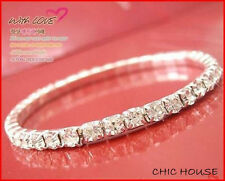 925 Silver Bracelet/Bangle use Swarovski Crystal SALE