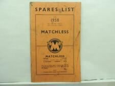 1958 Matchless 350 500 Single 500 600 Twin Spare Parts List Manual L12411