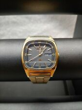 Mens Vintage Seiko Quartz  Dual Date Gold Plated Wristwatch 7123-5069 - Working