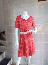 Robe à pois Vintage HUGUET PARIS T. 38 - Vintage polka dot dress Size M
