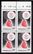 CHILE 1972 STAMP # 810 MNH MEDICINE HEART BLOCK OF FOUR
