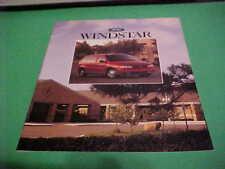 1996 FORD WINDSTAR AUTO DEALER BROCHURE EXCELLENT