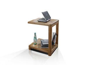 Laptop Tisch Beistelltisch Computertisch VERONA Massivholz Wildeiche geölt
