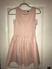 H&M baby pink skater dress size 10