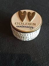 GOLDEN WEDDING ANNIVERSARY TRINKET BOX