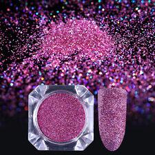 0.1mm BORN PRETTY Holo Ultrafine Nail Art Glitter Powder Rose Red Nail Dust DIY