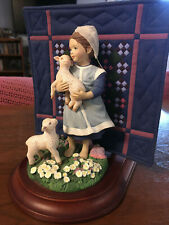 Amish Heritage Sadie Mae Quilt Figurine Girl W/ Sheep Willitts 30011 Limited Ed.