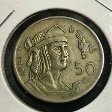 1951 MEXICO SILVER 50 CENTAVOS NICE COIN