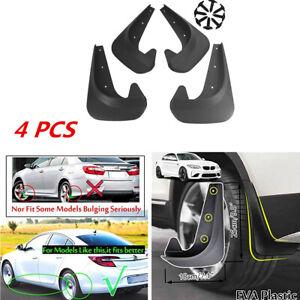 4Pcs Car Fender Splash Guards Front&Rear Mudflaps Kits Universal EVA Plastic