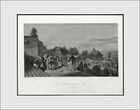 "NEW YORK Antique Engraving ""The Terrace, Central Park."" c1872"