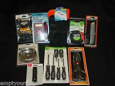 9 Pc Assorted Tools Multi Tester*Screwdrivers*Ruler*Flashlight*Sissors & More !