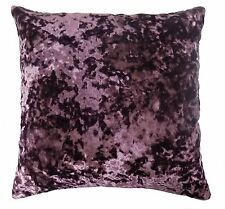 "LUXURIOUS AUBERGINE PURPLE CRUSHED VELVET THICK SOFT CUSHION COVER 20"" - 50CM"