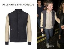 *RARE STYLE* Spitalfields ALL SAINTS BLADE LEATHER BOMBER JACKET M RRP £300