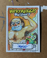 Topps Wacky Packages Old School 7 Original Art Sketch Card 1/1 Fright Guard