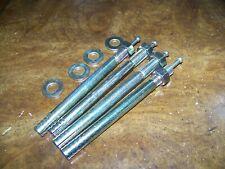 "4 PK WEDGE Cement Anchor,Hammer Strike Pin , 1/2"" X Length ~ 6"" W  washer & bolt"