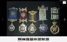 More details for solid silver masonic medals gle raob buffaloes 5 one man hallmarked empire lodge
