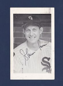 Sherm Lollar signed Chicago White Sox 1961 National Press baseball postcard