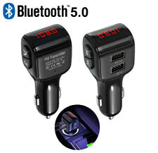 Bluetooth 5.0 Handsfree Wireless Car Fm Transmitter Mp3 Player & Usb Charger Kit