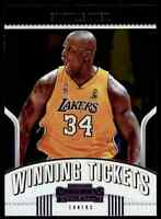 2018-19 PANINI CONTENDERS WINNING TICKETS SHAQUILLE O'NEAL LOS ANGELES LAKERS