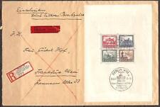 1930 Germany IPOSTA s/s used on registered cover  € 3,000.00