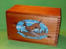 American Wildlife ' Whitetail Buck ' ammo box / crate.Box joints 16 x 10 x 8