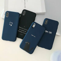 Simple Pure Shockproof Phone Case Cover TPU For iPhone 6 6S 7 8 Plus X Xr Xs Max