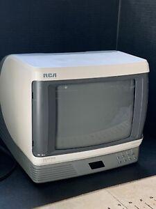 "RCA SpaceSaver Colortrak Retro 9"" Portable Color TV 1990 TESTED E09525KH Vintage"