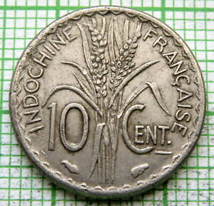 FRENCH INDOCHINA 1940 10 CENTS, MAGNETIC