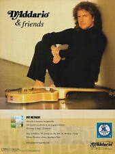 Pat Metheny D'Addario Strings 2002 8x11 Promo Poster Ad