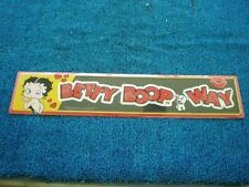 50 Betty Boop Way Sign