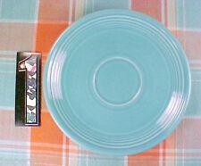 """2 Vintage Fiesta Fiestaware Turquoise 6"""" Tea Cup Saucers"""