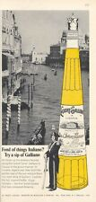 1965 Italiano Galliano Liqueur Vintage Bottle Grand Canal Venice PRINT AD