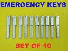 NEW Set Of 10 Emergency Keys For Land Rover Jaguar Proximity Remotes KOBJTF10A