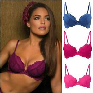 Gossard Superboost Lace Padded Plunge Bra 7711 Womens Lace Bras New Lingerie