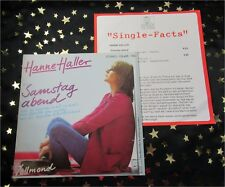 HANNE HALLER - Samstag abend / Vollmond * TOP SINGLE (M-:)) im TOP COVER + INFO