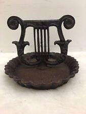 Antique Victorian Lyre Cast Iron Boot Scraper Virginia Metalcrafters Harp