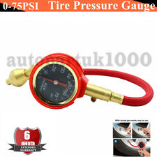0 - 75PSI Tyre Deflator Rapid Tire Air Pressure Gauge Pointer Type Dial Valve