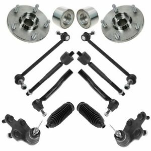 Front Ball Joint Tie Rod Sway Bar Link Hub Bearing Suspension Kit 14pc