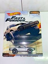 2019 Hot Wheels Fast & Furious '67 Off Road Camaro Furious Off-Road 4/5 NIP