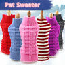 New Pet Puppy Cat Knitwear Knitted Coat Winter  Dog Warm Jumper Sweater Clothes