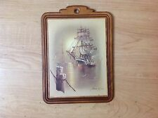 Vintage Wooden Framed Andres Orpinas Print