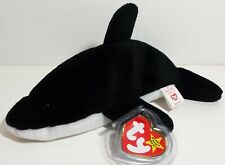 """RARE! TY Beanie Babies """"SPLASH"""" the KILLER WHALE - MWMTs! RETIRED! GREAT GIFT!"""