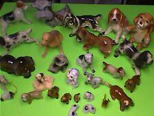 VINTAGE LOT OF 27 DOG FIGURINES (porcelain, china, ceramic)