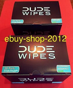 DUDE WIPES Fragrance Free 2-BOX 30 PACK(60 Wipes)$pecial! Fast Shipping!🚽🚨