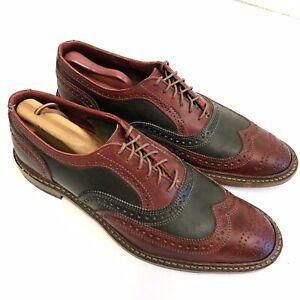 Allen Edmonds JINGLE BELL MOK Leather WING TIP Dress Shoe Christmas Oxford 10 E
