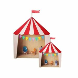 Wooden Toy Storage Box Cool Circus Tent Decorative Design Use For House Displays