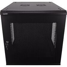 12U Wall Mount Network Server Data Cabinet 24-inch Perforated Door Locking Key